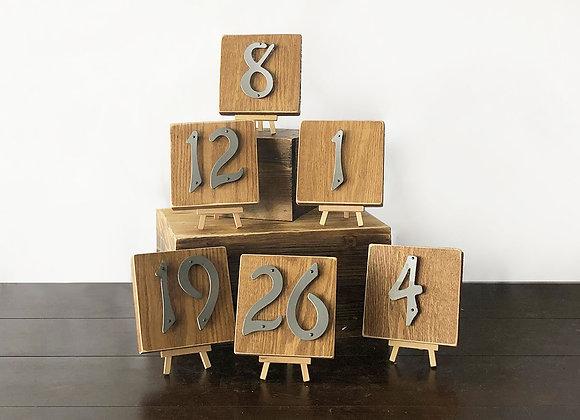 Wood/Metal Table numbers