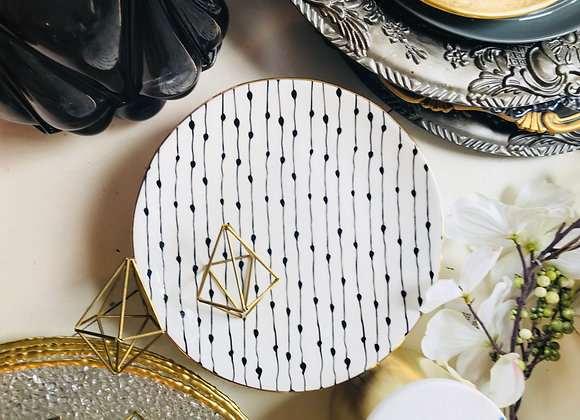 Side Plate White/Black