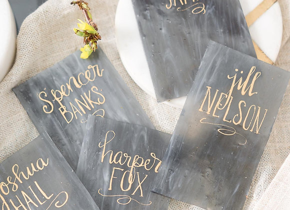 Glass Name Cards