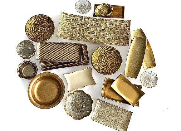 Trays, Gold Modern