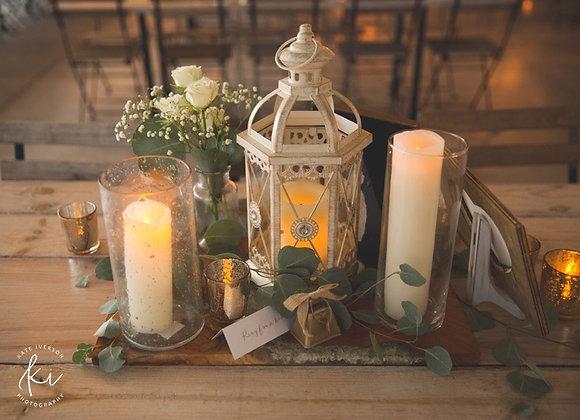 Lantern, Ivory, Medium
