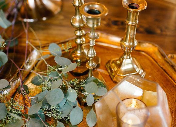 Candlesticks, Gold Metal