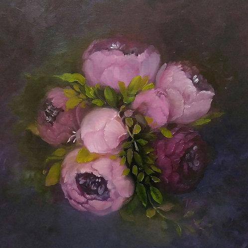 Purple Peonies Bouquet