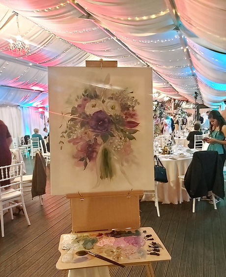 Live Flower Painting