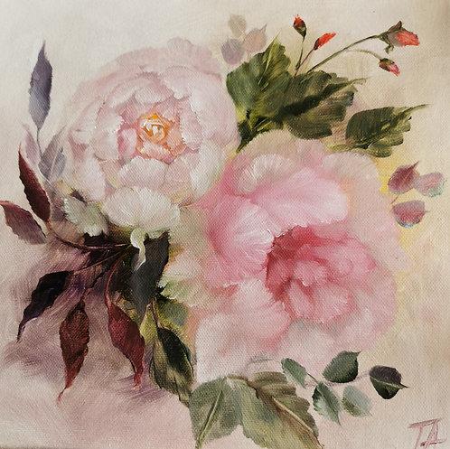 ''English Roses'' Print