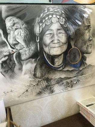 Hill tribe woman by Tanatus Joei