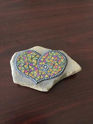 Garden art heart mosaic