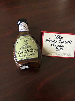 Henry Bains Famous Sauce