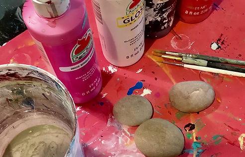 Painted Rock Ladybugs!