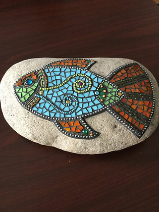 Handcrafted mosaic fish