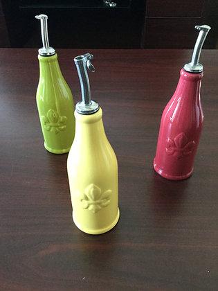 Fleur-de-lis olive oil dispensers