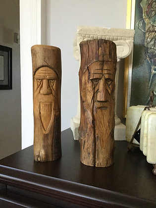 """9"""" wooden totems"""