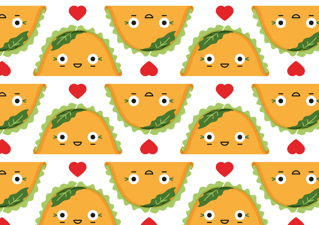 Taco girl pattern