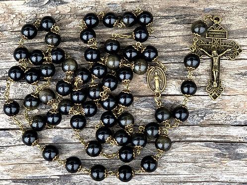 Men's Black Stone Rosary