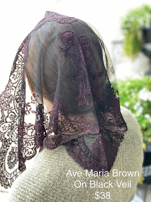 Ave Maria - Brown on Black Veil