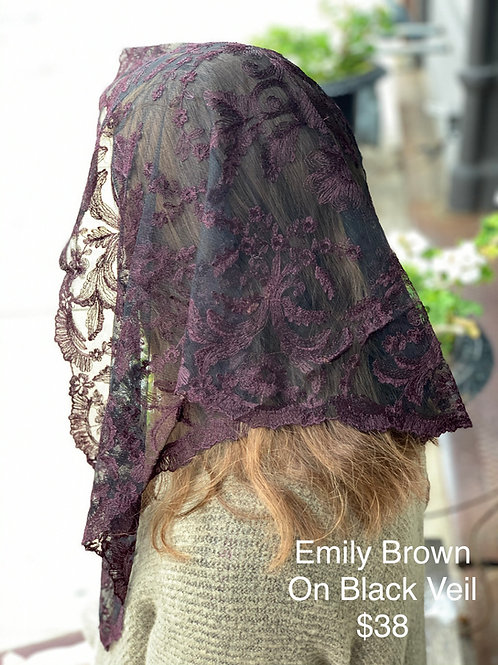 Emily - Brown on Black Veil