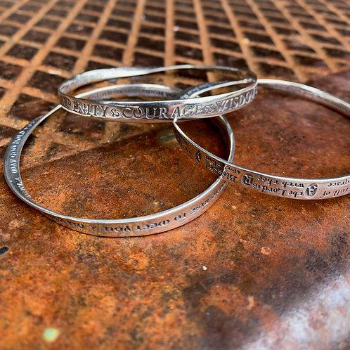 Mobius Sterling Silver Bracelet