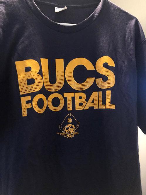 GH Bucs Football Navy T-shirt