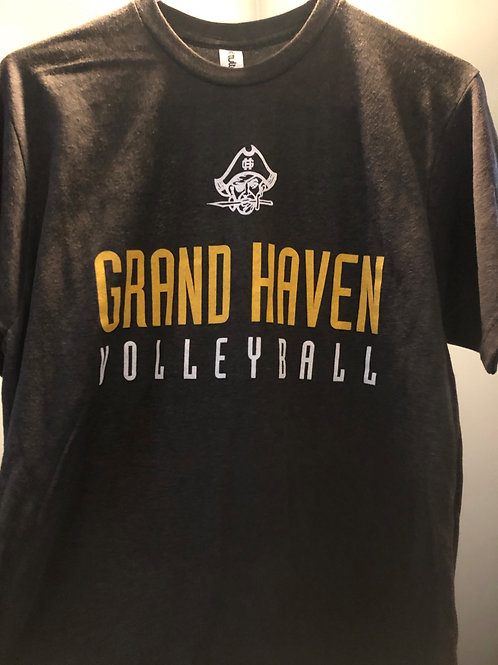 Grand Haven Volleyball Grey T-shirt
