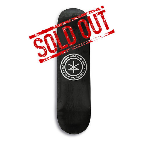 Canada Skateboard Keep Pushing Deck