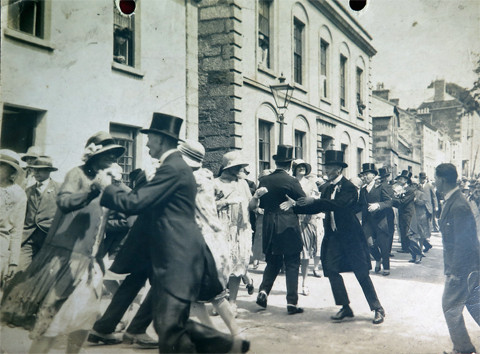 Middday Dance in Cross Street in the late 1920's.