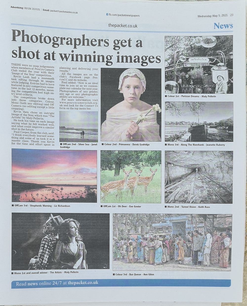 Image of the year Falmouth Packet write-up