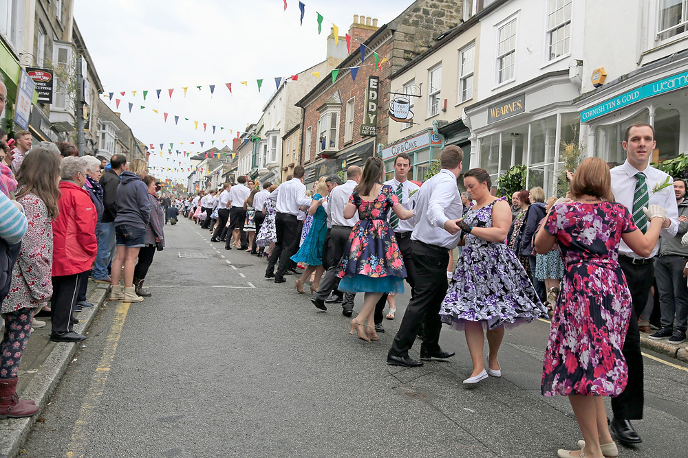 Helston Flora Day servants dance