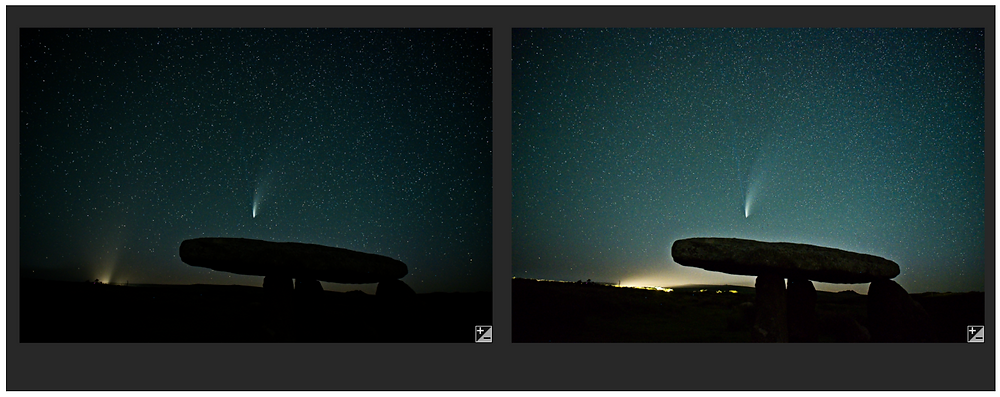 Discarded images - light pollution from a car