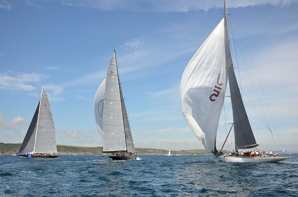 """J"" Class Yachts battling it out in Falmouth Bay"