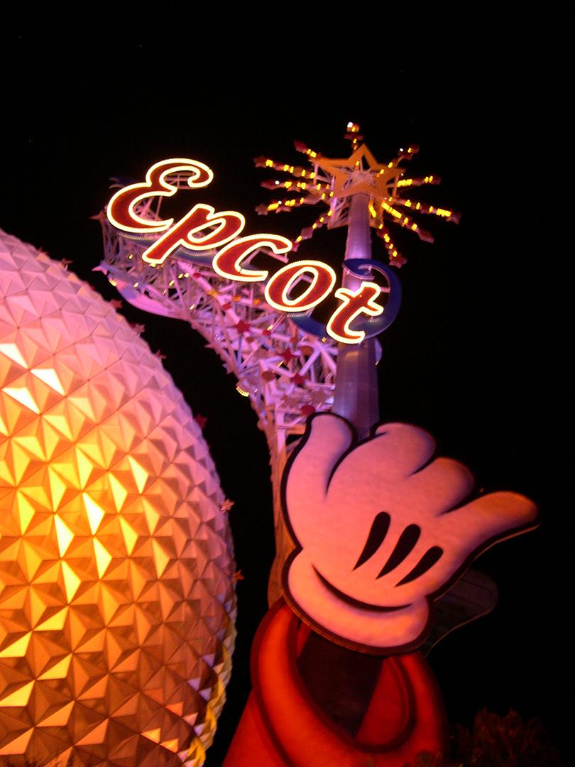 Epcot at Night - Mandy