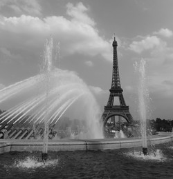Mono Waterfall View Of The Eiffel Tower