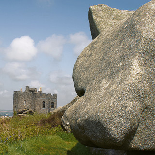 A Cornish Landscape - Carn Brea Castle.j
