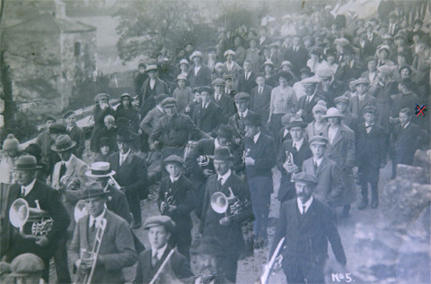 Early Morning Dance 1921 in St' John's Road, (the little boy with a x, is my dad).
