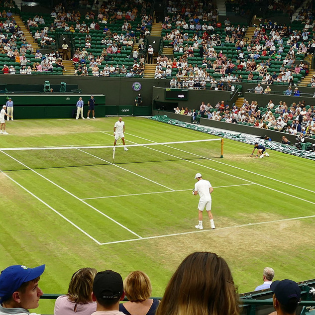 Watching Andy Murray at Wimbeldon - Wend
