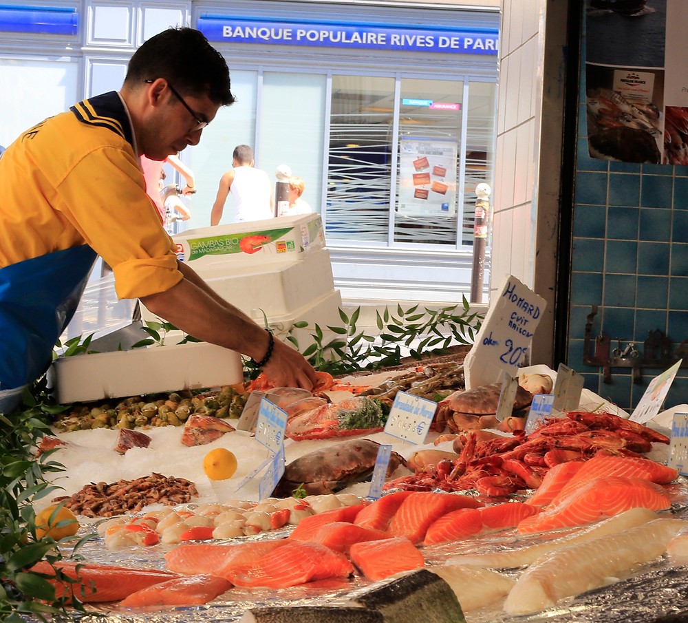 Third place; Parisian Fishmonger by Wendy