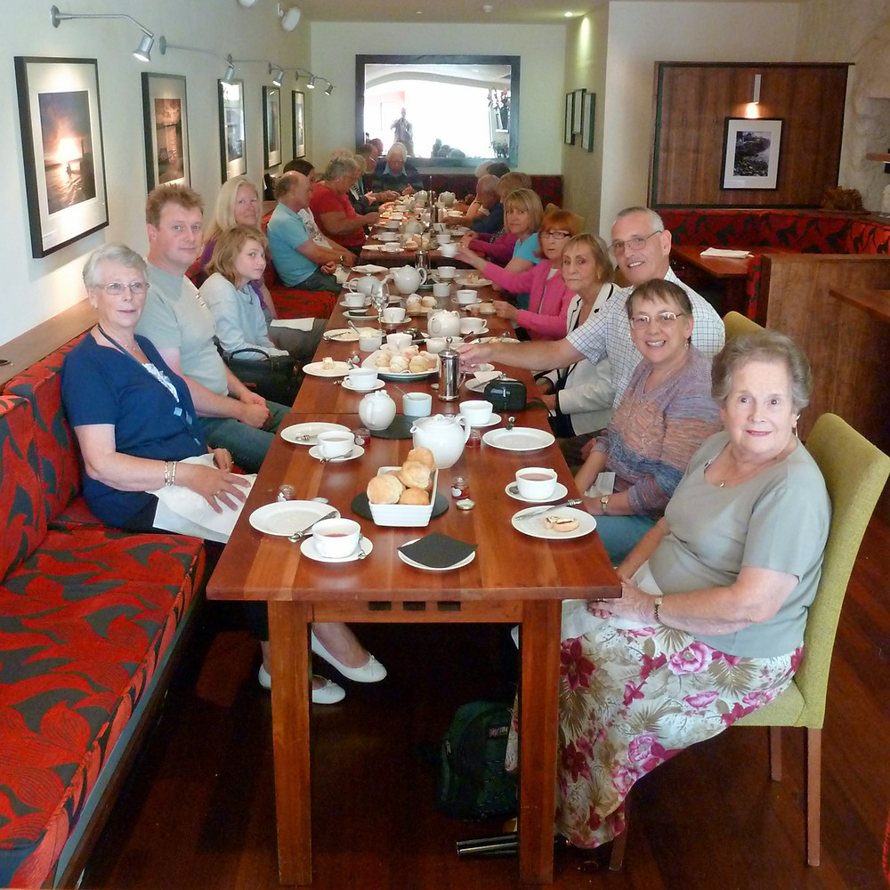 CREAM TEAS are a favourite with the Club Members