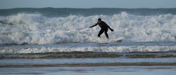 Surfing at Trevaunance - Julia