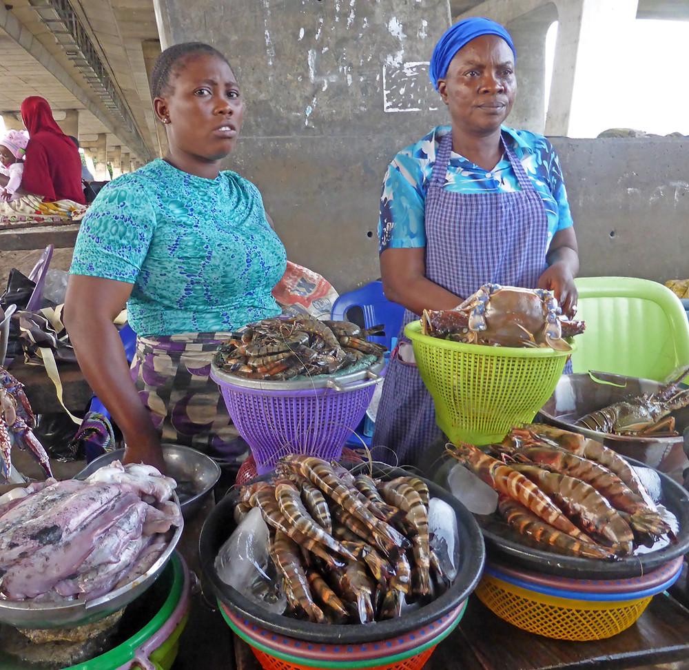 This week's winner; Lagos fish market by Ann Glinn