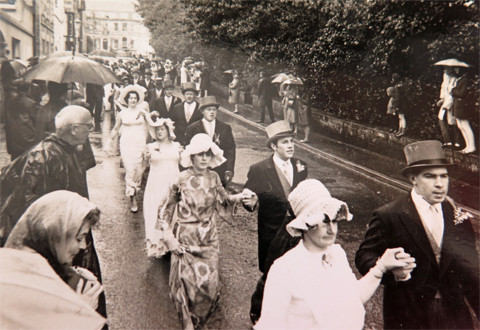 1968 Cross Street. It poured with rain for the whole dance.