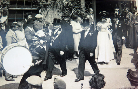 c1950s - My Uncle leading the Midday dance,