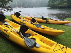 Helford before our kayaking - Karen