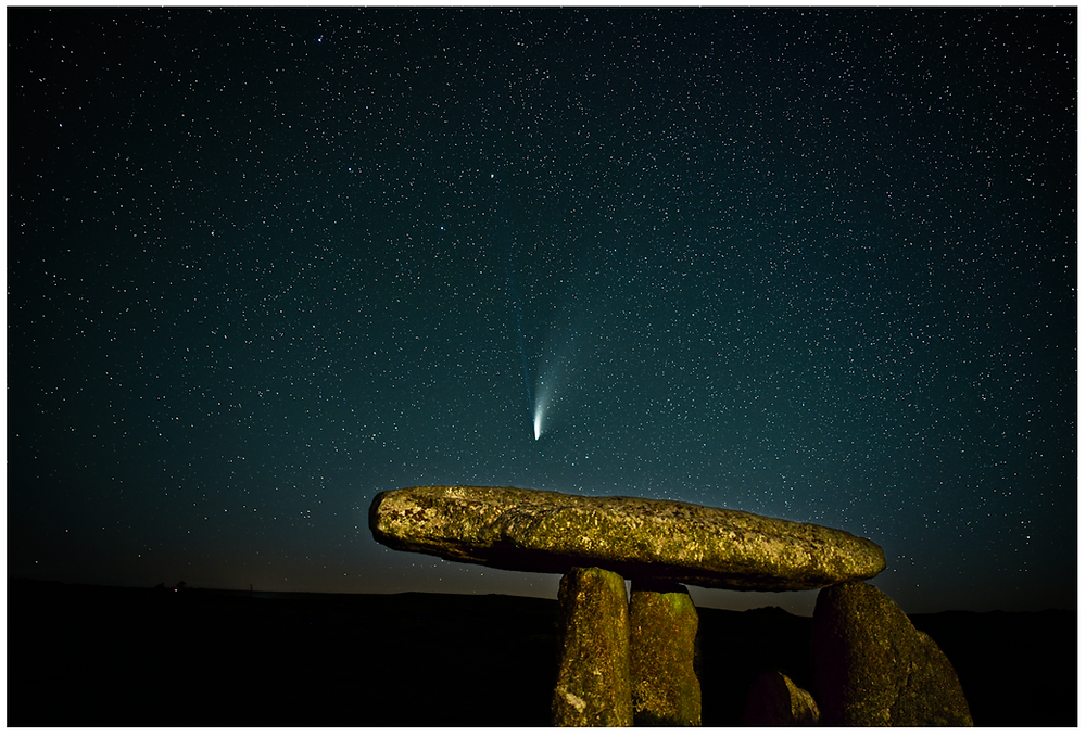 Comet Neowise over Lanyon Quoit