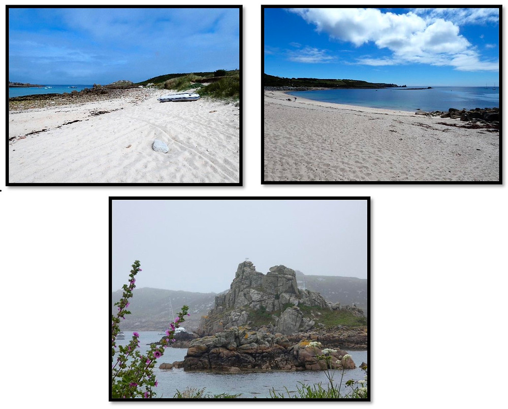 St.Martins – wonderful beaches and Island of Bryher rock formation