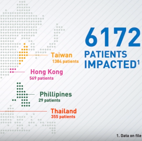 Pfizer motion graphics map
