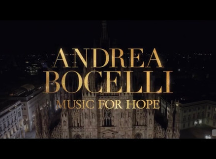 Youtube promo for Andrea Bocelli