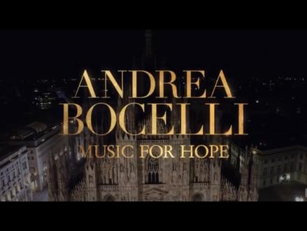 Youtube promo for Andrea Bocelli