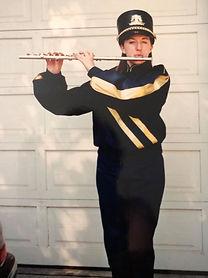 Elizabeth in marching band