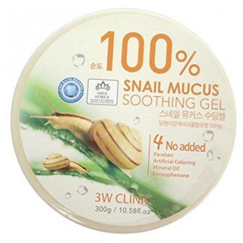 Универсальный гель с муцином улитки  3W Clinic Snail Mucus Soothing Gel