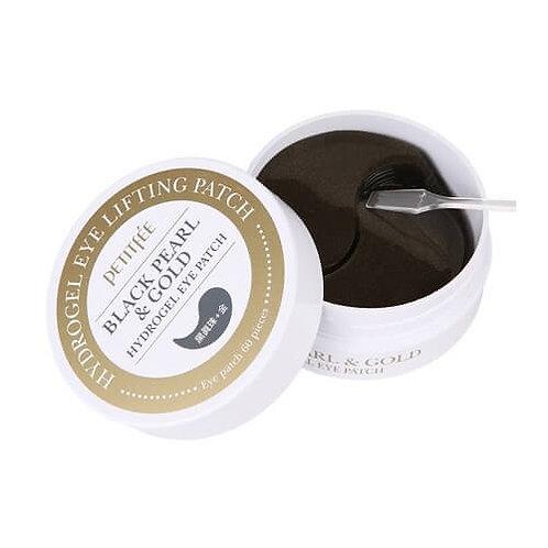 Гидрогелевые патчи с чёрным жемчугом Petitfee Black Pearl & Gold Hydrog