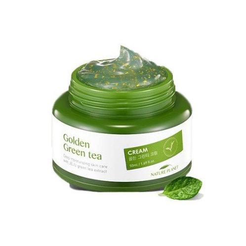 Крем для лица Scinic Nature Planet Golden Green Tea Cream